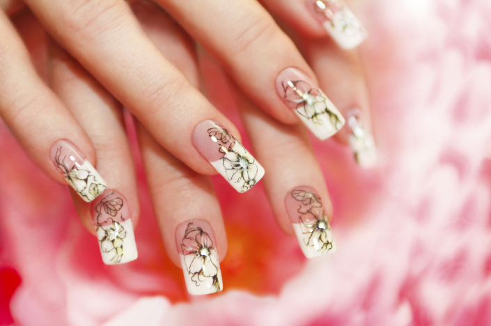 French gel manicure nyc