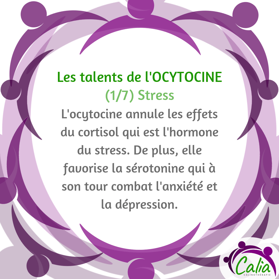 Talent de l'ocytocine: combat le stress