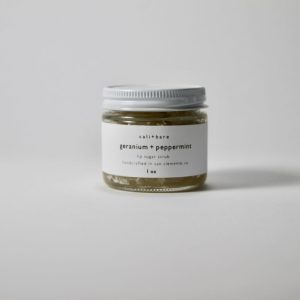 cali+bare GERANIUM + MINT LIP SUGAR SCRUB