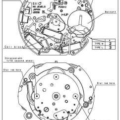Watch Movement Diagram Stereo Wire Harness Vd55b Movements Caliber Corner Vd54b Seiko Japan Quartz