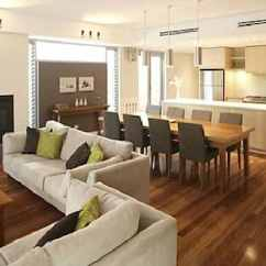 Interior Design Living Room Table Beach Look Open Plan And Dining Ideas Caliber Homes New