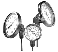 Reotemp Adjustable Angle Bimetal Thermometers On
