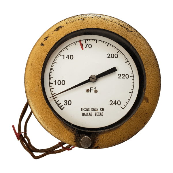 Texas Gage Co Remote Dial Temperature Gauge Front