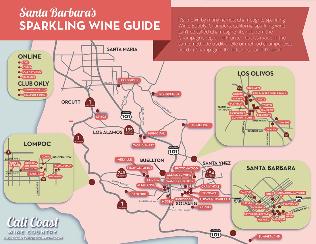 Santa Barbara Sparkling Wine Guide: a Champagne r's Map on lompoc wine trail map, amador wineries map, san ynez map, el dorado county wineries map, california ava map, sta rita hills appellation map, sonoma winery map, sonoma valley map, buellton wineries map, solvang map, augusta mo wineries map, best santa barbara wineries map, fair play wineries map, lompoc wineries map, monterey wineries map, los olivos map, napa valley wineries map, morro bay wineries map, santa rita hills map, montana state parks map,