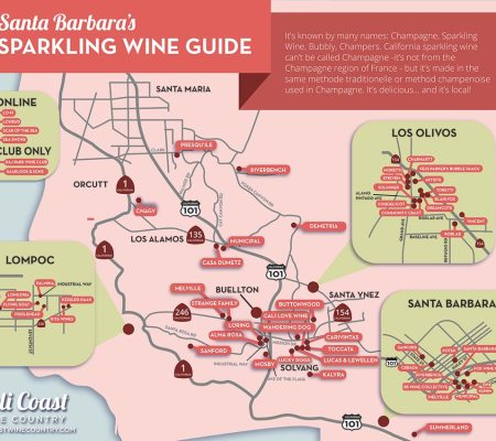 Central Coast Sparkling Wine Map: CA's