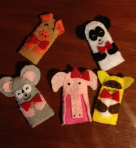 WunderKeys Finger Puppets, used during Preschool Piano Lessons