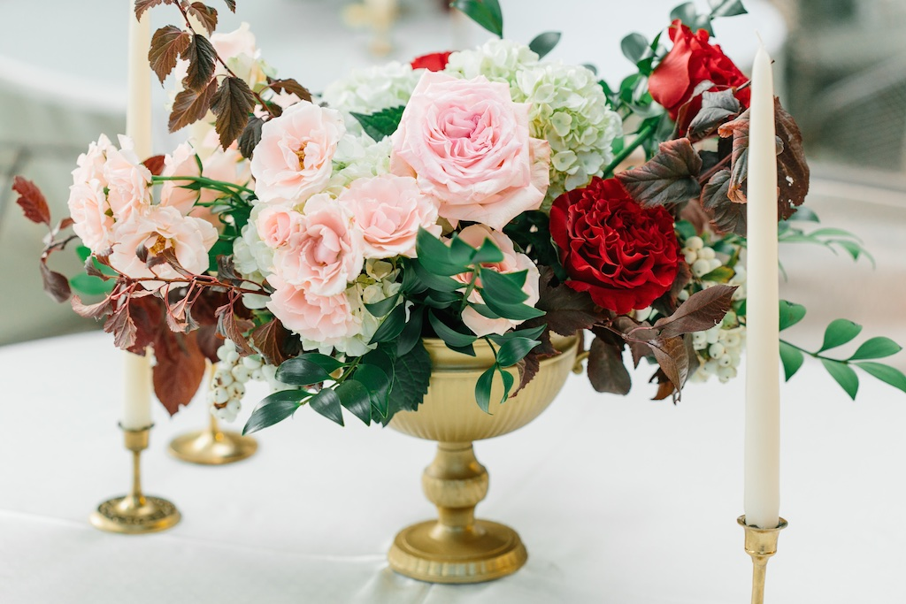 Bungalow Fireplace Mantel Burgundy And Blush Wedding Flowers At The Bungalow In