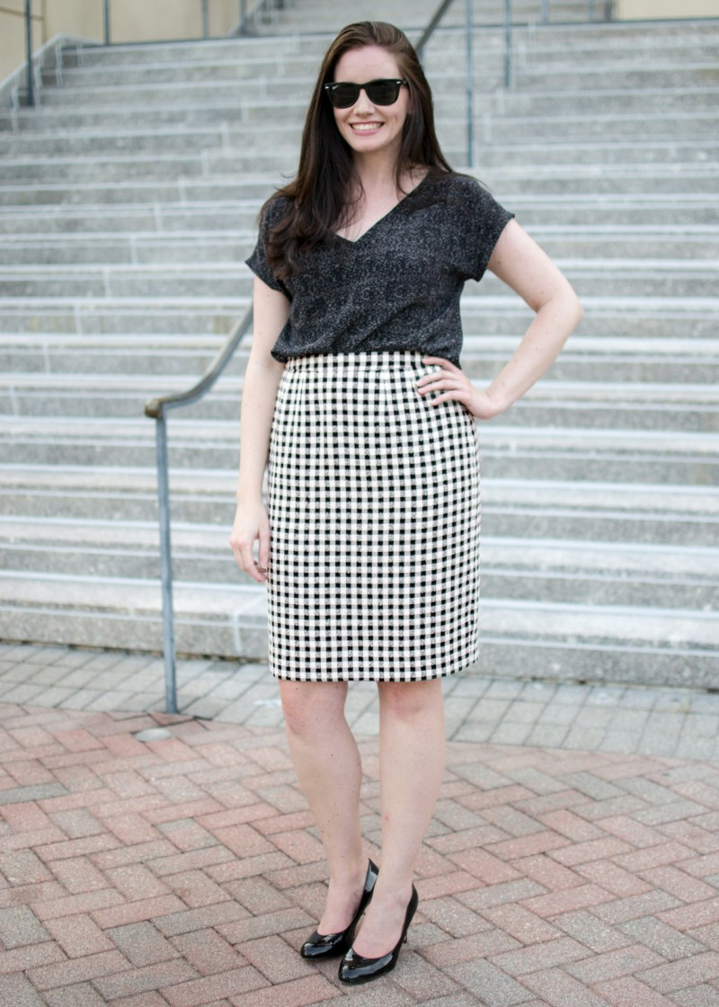 Boucle Skirt Front View