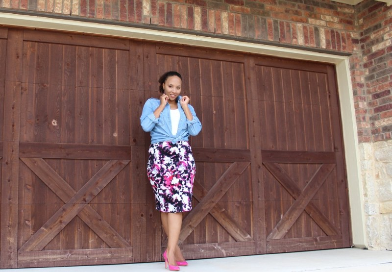Floral Pencil Skirt 4