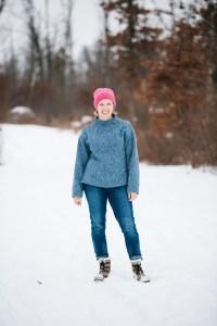 Talvikki sweater in heavy fleece backed sweater knit