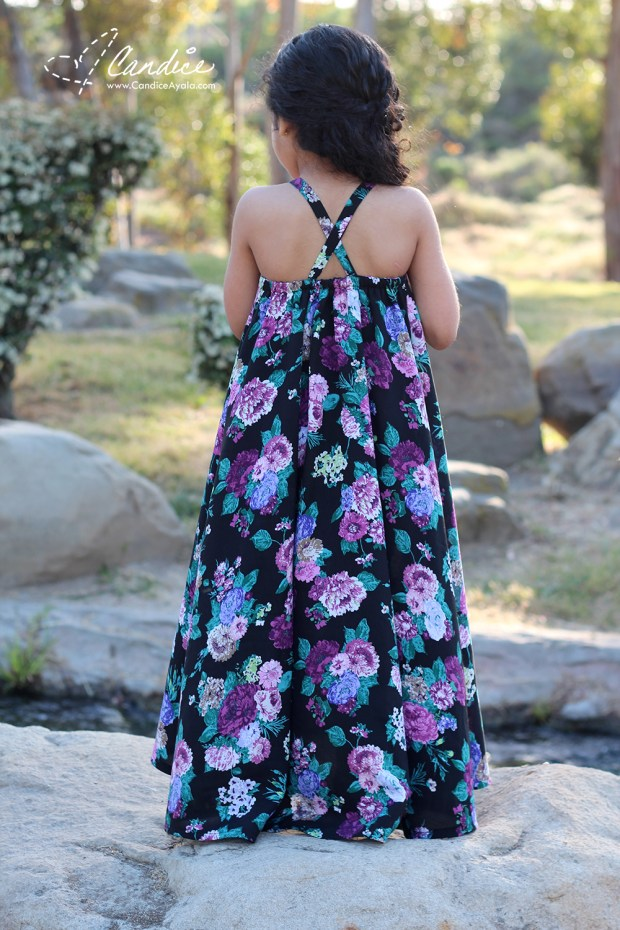 The Cascade Maxi Sewn by Candice Ayala for Califabrics blog