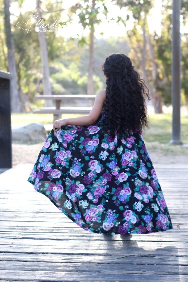The Cascade Maxi Sewn by Candice Ayala for Califabrics blog