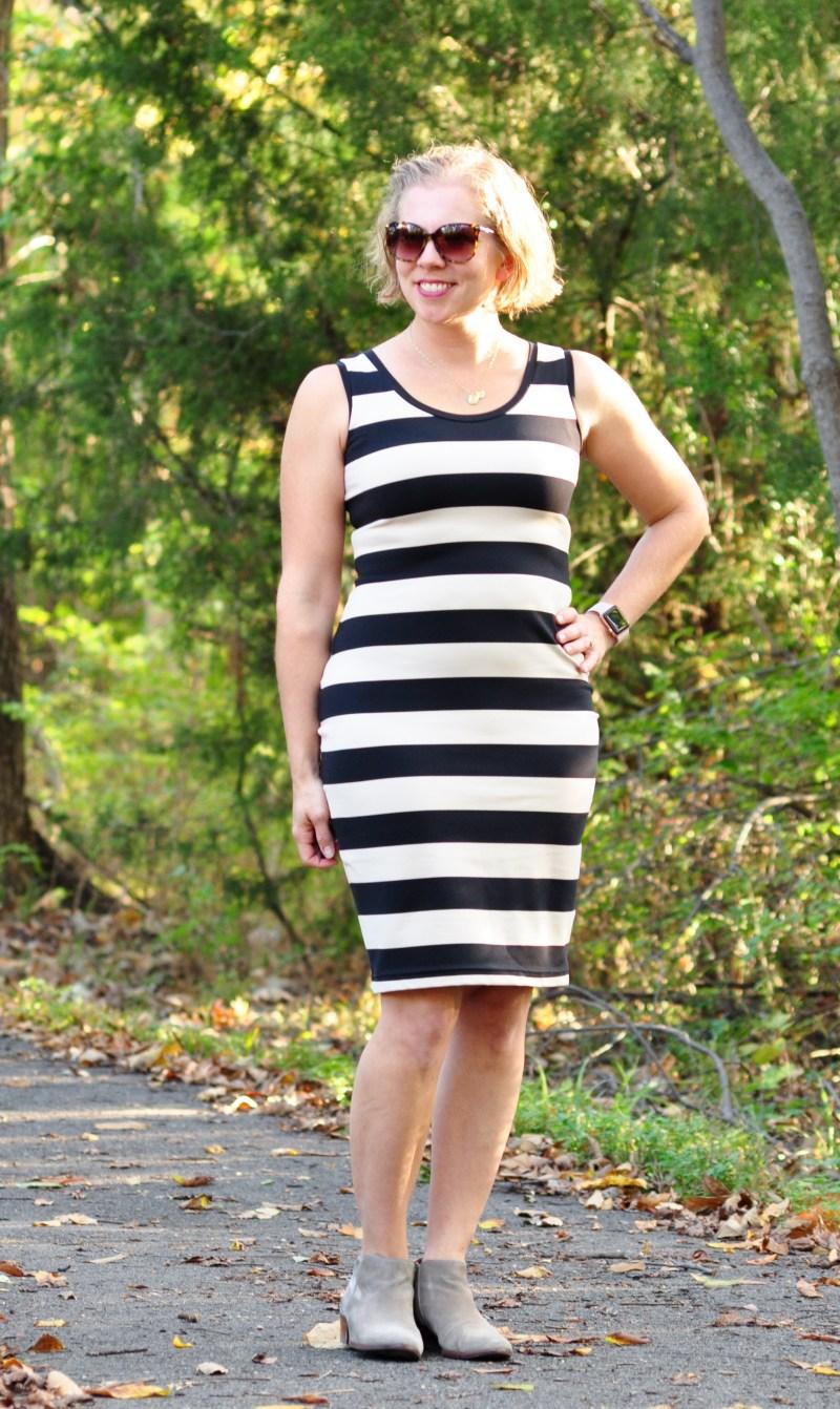 Body Con dress in heavyweight 4-way stretch knit