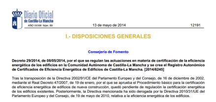 Decreto-29-2014-certificados-energetico-la-mancha