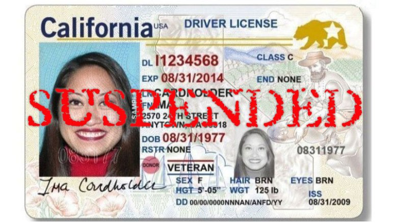 California - Suspended License