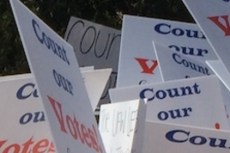 """Count our votes Farm workers' rights UFW Endorsement """"No Union"""""""