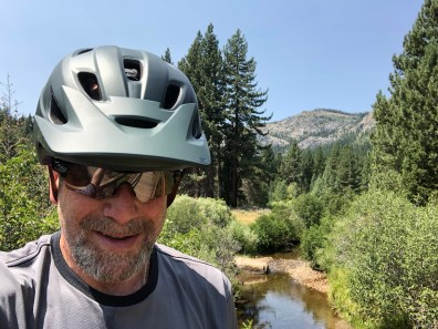 "Yours truly on the ""meadow bridge."""