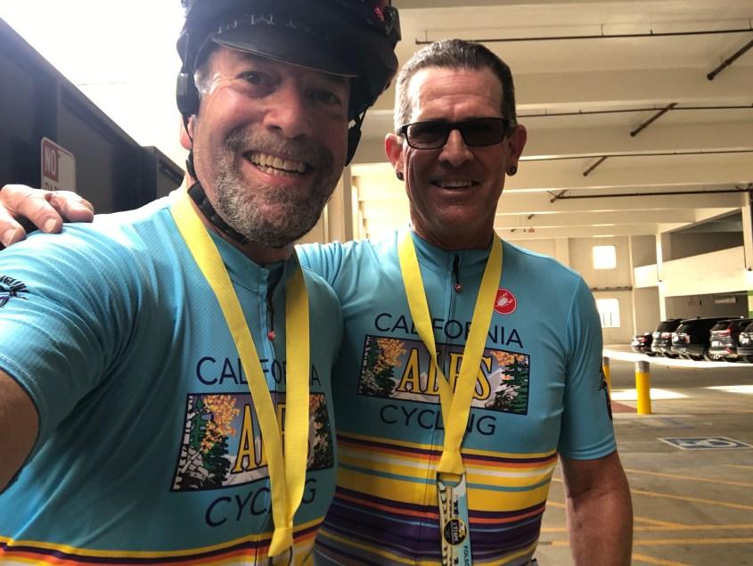 Me and Scott after finishing the 2018 L'Etape.