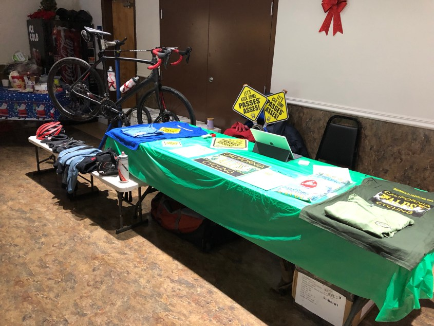 California Alps Cycling's booth at the 2018 Magicial Markleeville Christmas Faire.