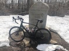 Tired bike on Monitor Pass.