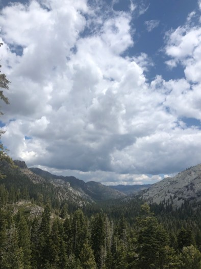 Thunderclouds forming over Carson Valley. As seen from Hwy 4. near Raymond Meadow Creek