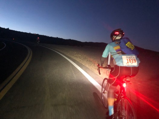 Scott heading up Monitor Pass in the early morning. Deathride 2019