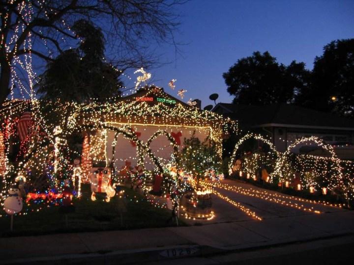 San Jose Christmas Lights Neighborhood