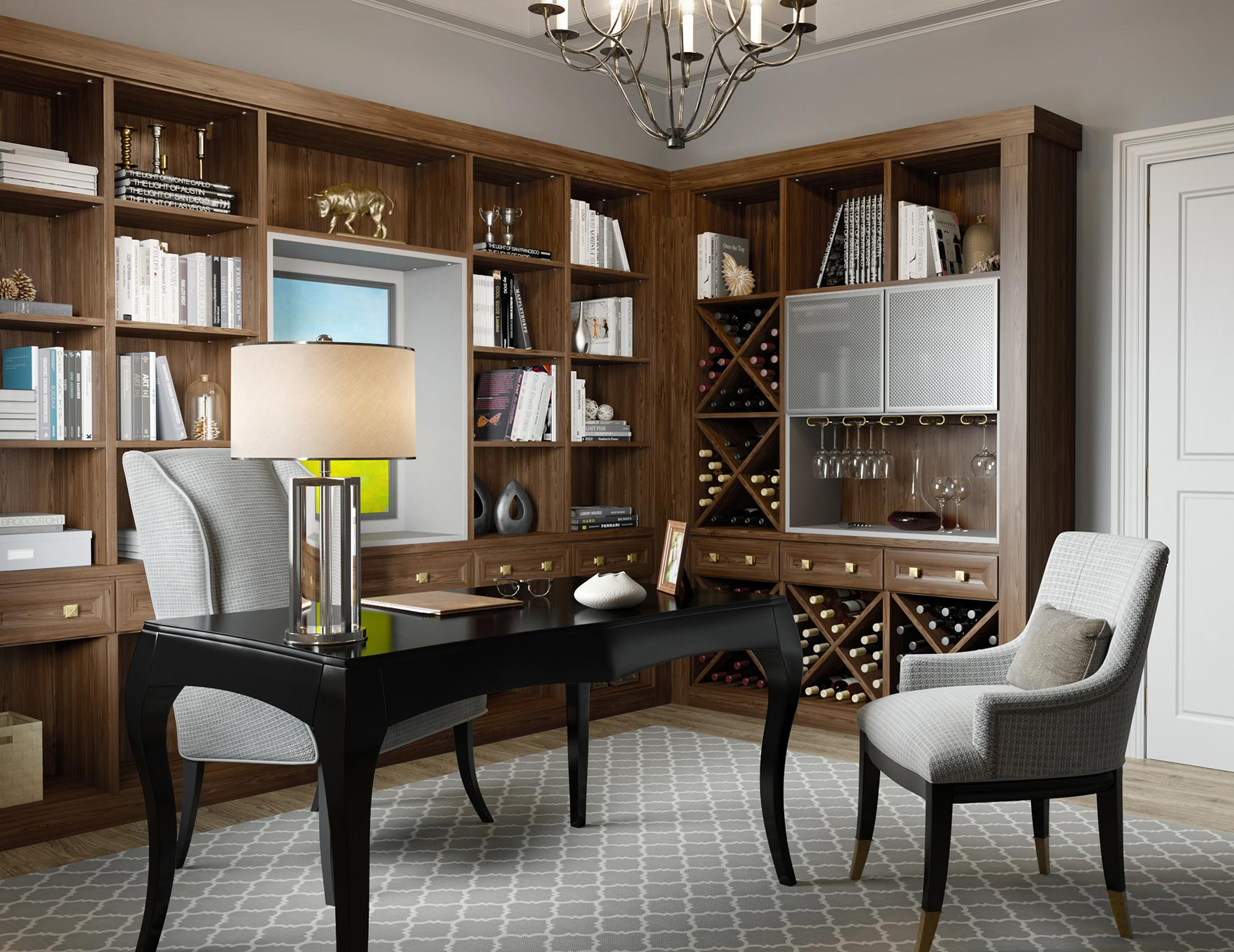 can you put a wine rack in living room furniture ideas for small storage cabinets custom racks california closets dark brown office and bar with shelving display cabinet