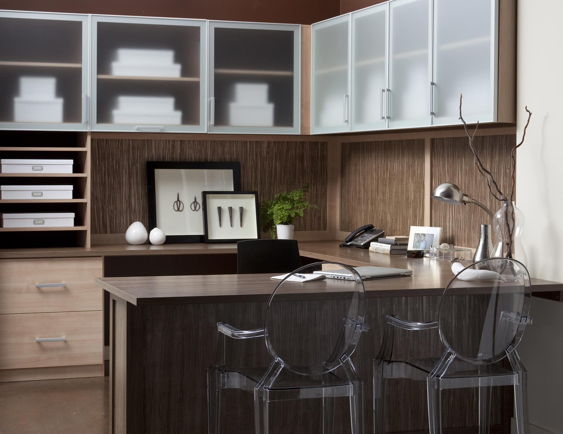 Custom Home Office Built Ins  Cabinet Storage