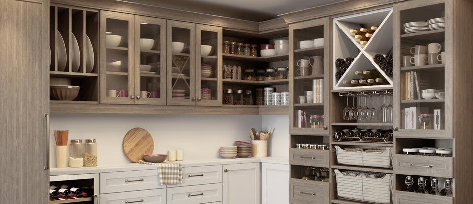 kitchen pantry ideas hickory shaker style cabinets organization california closets