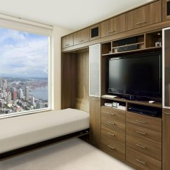 Murphy Bed In Small Living Room Black And White Rug Ideas Beds Wall Designs By California Closets Dark Brown Built Cabinets With Entertainment Center Shelving Glass Doors
