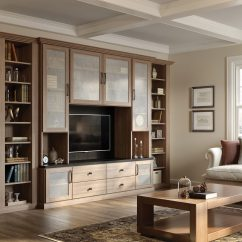Entertainment Units Living Room Small Ideas Fireplace Built In Centers Media Cabinets California Closets Light Brown Wood Grain Center Shelving Drawers And With Frosted Glass Doors