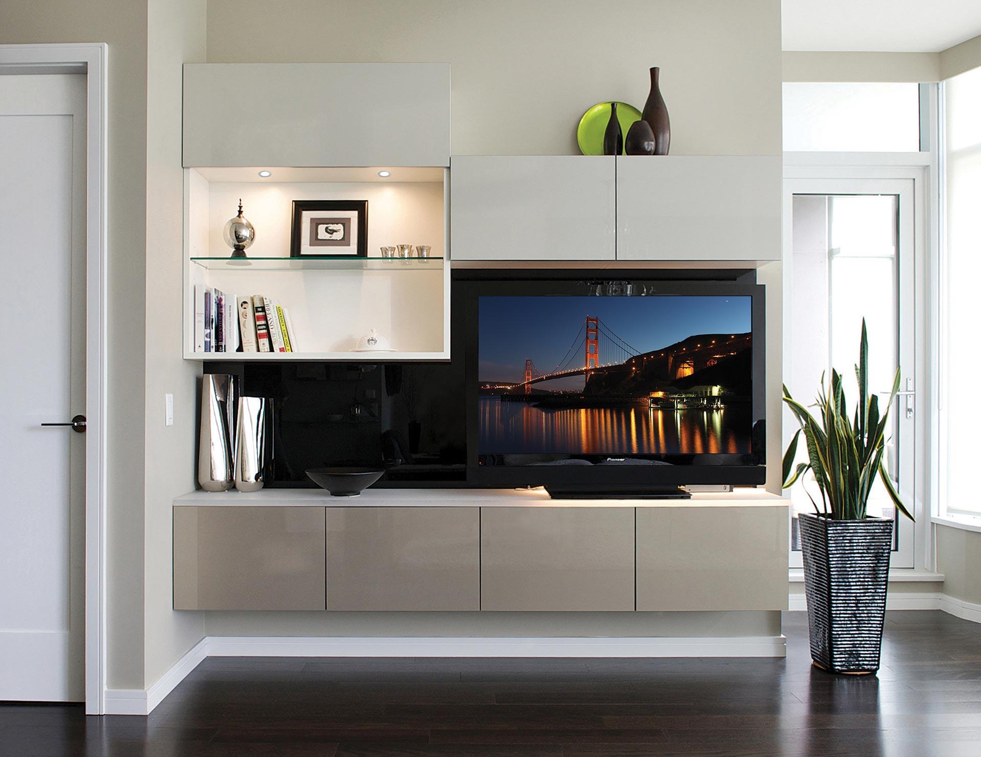 Builtin Entertainment Centers  Media Cabinets