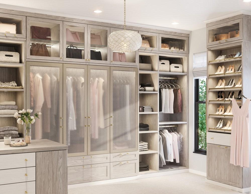 medium resolution of california closets brooks master walk in closet in albero grigio finish