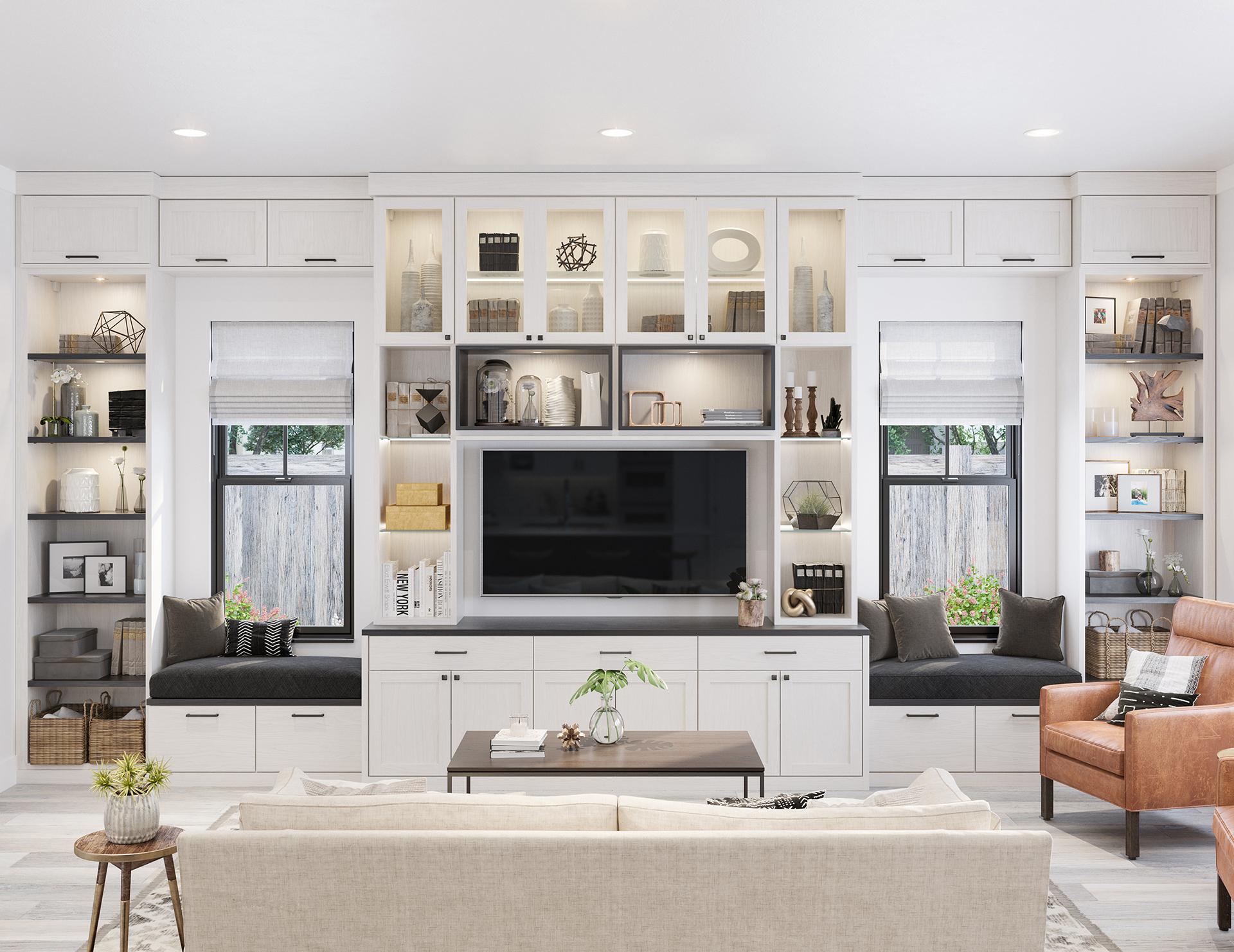 living room cabinet design ideas blue sofa family storage by california closets