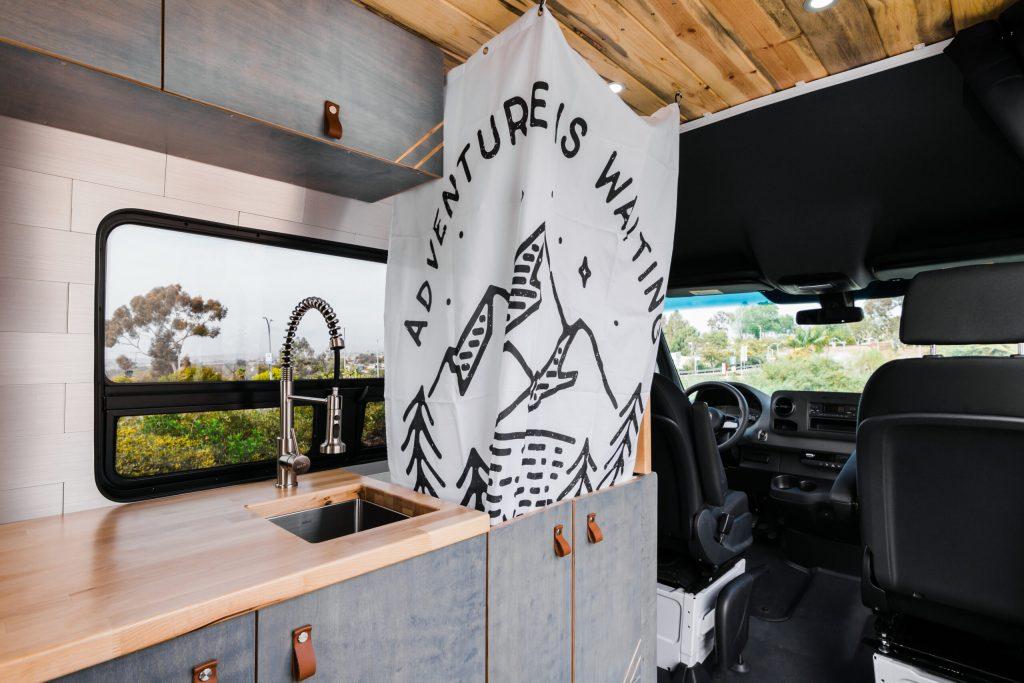 Mercedes Sprinter camper van with shower.