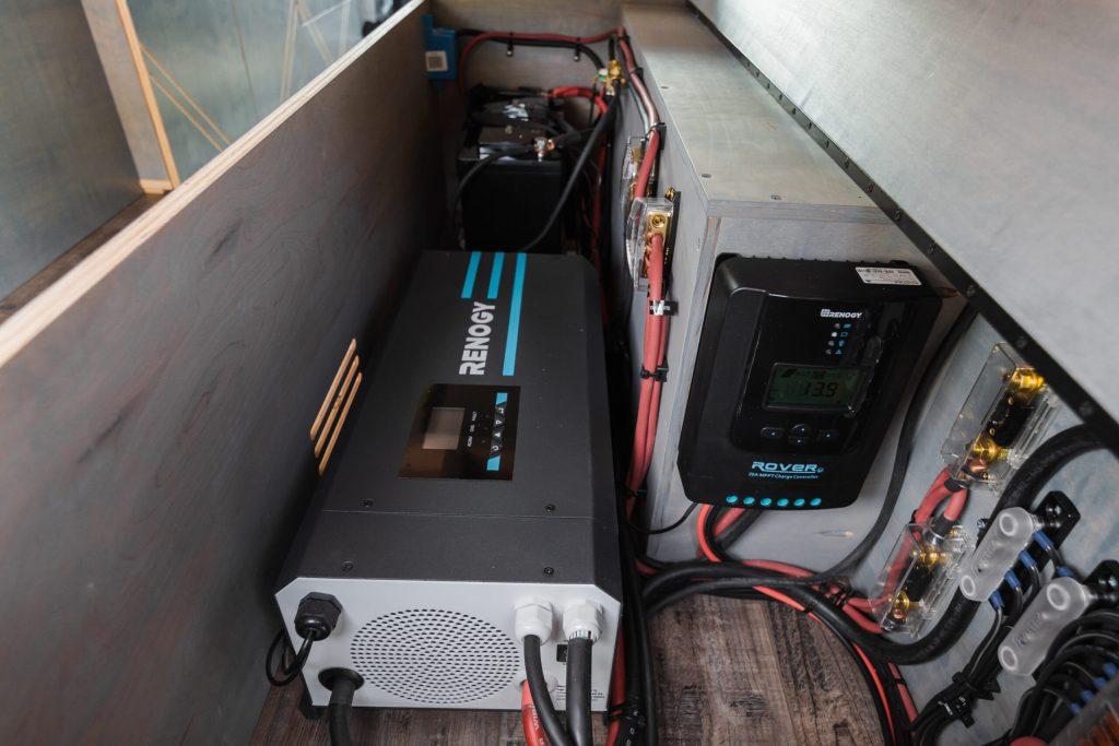 camper van Renogy solar power system.