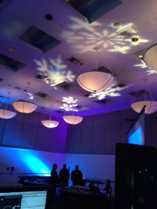 Gobo Light Hilton San Jose DJ SNOWFLAKE
