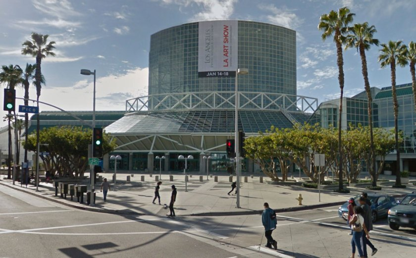 Los Angeles convention center at the corner of Pico and Figueroa