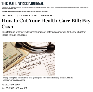 How to Cut Your Health-Care Bill: Pay Cash