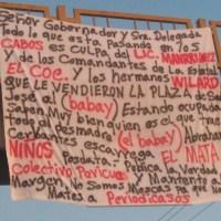 ¡En #LosCabos amenazaron con narcomanta al medio digital Colectivo Pericú!