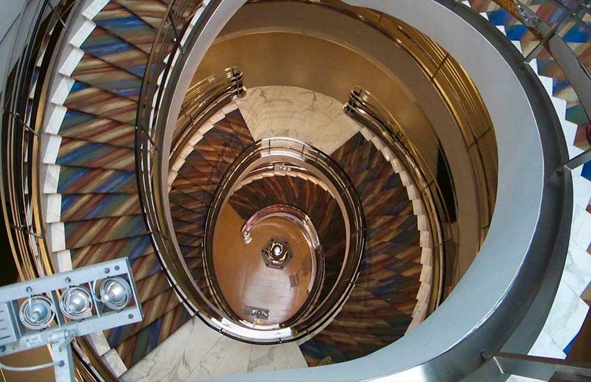 10 Amazing Staircases Found Indoors California Mobility   Spiral Staircase Los Angeles   Old Fashioned   Most Efficient   Double Spiral   Rome   Topanga Canyon