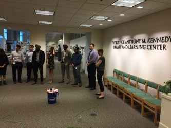 Capital Fellows gather during All Fellows Day for a team building exercise