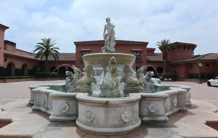 Fairmont Grand Del Mar exterior entrance fountain San Diego resort