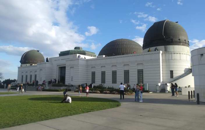 Griffith Observatory on Mount Hollywood in Griffith Park, Los Angeles, California