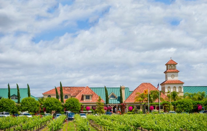 South Coast Winery, Resort and Spa in Temecula, main building housing the restaurant, tasting room and wine shop