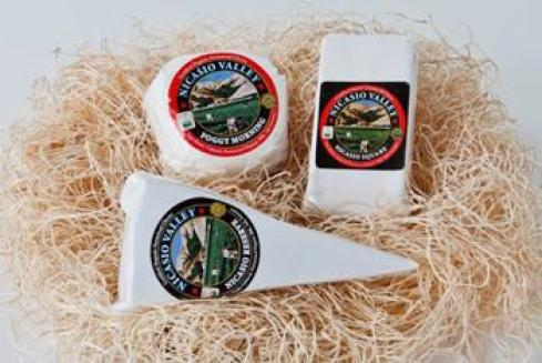 Three cheeses in the Family Favorites Gift Box from Nicasio Valley Cheese Company