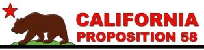 California Proposition 58