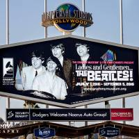 Celebrating The Beatles 50th Anniversary At Dodger Stadium 1966  LA DODGERS VS. CHICAGO CUBS 8/26/2016