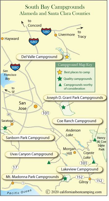 Mt Madonna Campground Map : madonna, campground, South, Campground